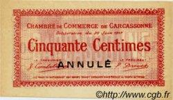 50 Centimes FRANCE régionalisme et divers Carcassonne 1917 JP.038.12 NEUF