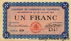 1 Franc FRANCE régionalisme et divers Chambéry 1916 JP.044.09 NEUF