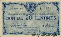 50 Centimes FRANCE régionalisme et divers CHATEAUROUX 1916 JP.046.14 NEUF