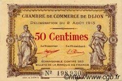 50 Centimes FRANCE régionalisme et divers DIJON 1915 JP.053.01 NEUF