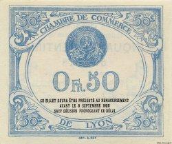 50 Centimes FRANCE régionalisme et divers LYON 1915 JP.077.03 NEUF