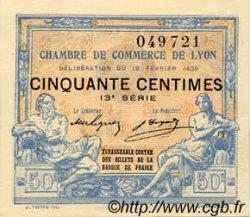 50 Centimes FRANCE régionalisme et divers LYON 1920 JP.077.20 NEUF