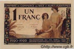1 Franc FRANCE régionalisme et divers NICE 1920 JP.091.11 NEUF