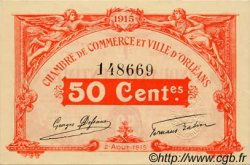 50 Centimes FRANCE régionalisme et divers ORLÉANS 1915 JP.095.04 NEUF