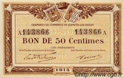 50 Centimes FRANCE régionalisme et divers QUIMPER ET BREST 1915 JP.104.01 NEUF