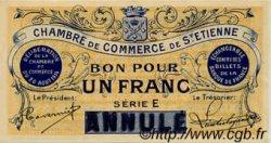 1 Franc FRANCE régionalisme et divers SAINT-ÉTIENNE 1914 JP.114.02 NEUF