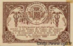 50 Centimes FRANCE régionalisme et divers SENS 1916 JP.118.02 NEUF