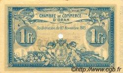 1 Franc FRANCE régionalisme et divers ORAN 1915 JP.141.09 NEUF