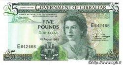 5 Pounds GIBRALTAR  1988 P.21b NEUF