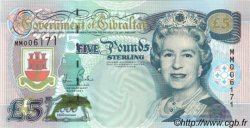 5 Pounds Sterling GIBRALTAR  2000 P.29 UNC