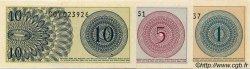1 Sen, 5 Sen et 10 Sen INDONÉSIE  1964 P.090, 091 et 092a NEUF