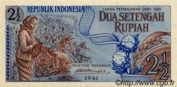 2 ½ Rupiah INDONÉSIE  1961 P.079 NEUF