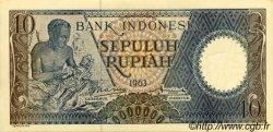 10 Rupiah INDONÉSIE  1963 P.089 pr.NEUF