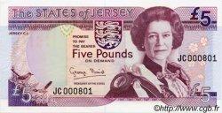 5 Pounds JERSEY  1993 P.21a NEUF