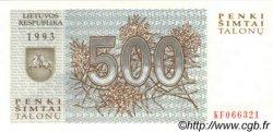 500 Talonu LITUANIE  1993 P.46 NEUF