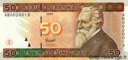 50 Litu LITUANIE  2003 P.67 NEUF