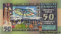 50 Francs / 10 Ariary MADAGASCAR  1974 P.62 NEUF
