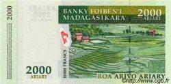 10000 Francs - 2000 Ariary MADAGASCAR  2003 P.83 NEUF