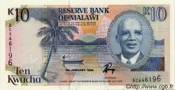 10 Kwacha MALAWI  1994 P.25c pr.NEUF