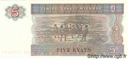 5 Kyats MYANMAR  1997 P.70b NEUF