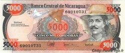 5000 Cordobas NICARAGUA  1987 P.146 NEUF