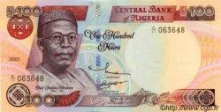 100 Naira NIGERIA  2001 P.28 NEUF