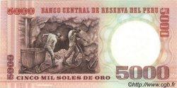 5000 Soles De Oro PÉROU  1985 P.117c NEUF