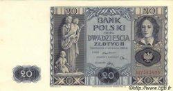 20 Zlotych POLOGNE  1936 P.077 SPL