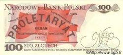 100 Zlotych POLOGNE  1988 P.143e NEUF