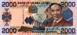 2000 Leones SIERRA LEONE  2002 P.26a NEUF