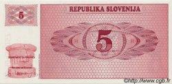 5 Tolarjev SLOVÉNIE  1990 P.03a NEUF