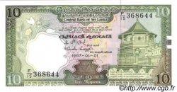 10 Rupees SRI LANKA  1987 P.096a NEUF