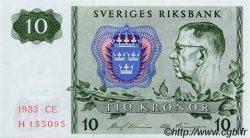 10 Kronor SUÈDE  1983 P.52d NEUF