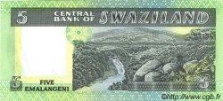 5 Emalangeni SWAZILAND  1982 P.09b NEUF