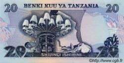20 Shilingi TANZANIE  1978 P.07c pr.NEUF