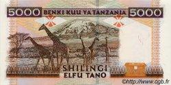 5000 Shilingi TANZANIE  1997 P.32 pr.NEUF