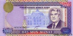 5000 Manat TURKMÉNISTAN  1999 P.12a NEUF