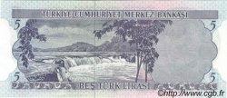 5 Lira TURQUIE  1976 P.185 NEUF