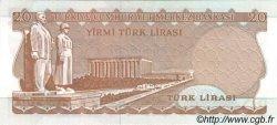 20 Lira TURQUIE  1974 P.187b NEUF