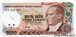 5000 Lira TURQUIE  1992 P.198 TTB+