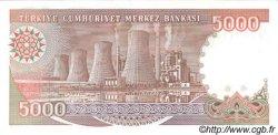 5000 Lira TURQUIE  1990 P.198 NEUF