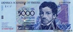 5000 Bolivares VENEZUELA  2002 P.091 NEUF