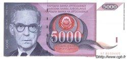 5000 Dinara YOUGOSLAVIE  1991 P.111 NEUF