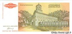 5000000000 Dinara YOUGOSLAVIE  1993 P.135a pr.NEUF