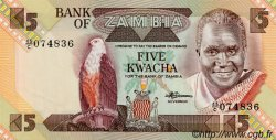 5 Kwacha ZAMBIE  1980 P.25d NEUF