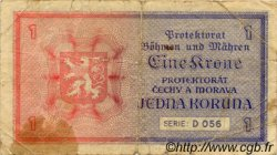 1 Koruna BOHÊME ET MORAVIE  1940 P.03a B