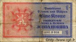 1 Koruna BOHÊME ET MORAVIE  1940 P.03a TB