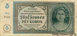 5 Korun BOHÊME ET MORAVIE  1940 P.04a pr.TB
