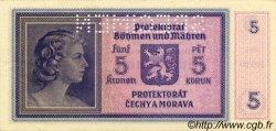 5 Korun BOHÊME ET MORAVIE  1940 P.04s SPL+