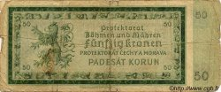 50 Korun BOHÊME ET MORAVIE  1940 P.05a B